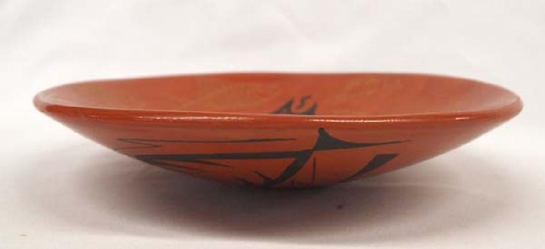 Mata Ortiz Fish Design Shallow Bowl - 3
