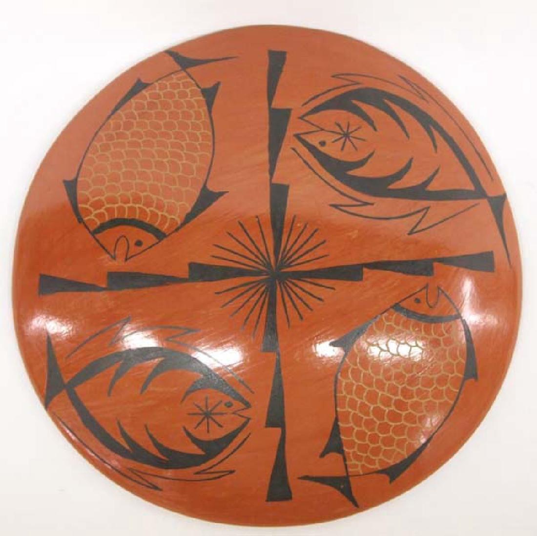 Mata Ortiz Fish Design Shallow Bowl - 5