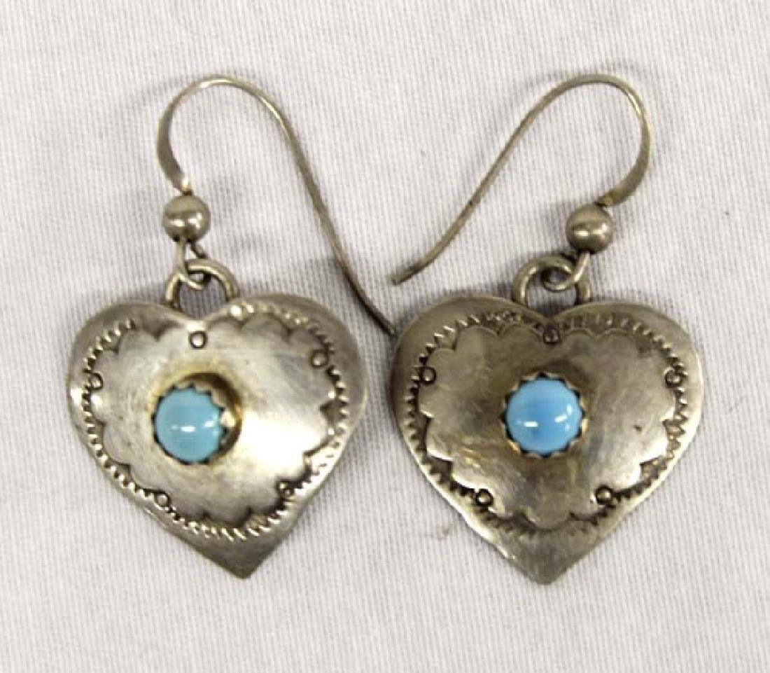 Navajo Sterling Silver Heart Earrings