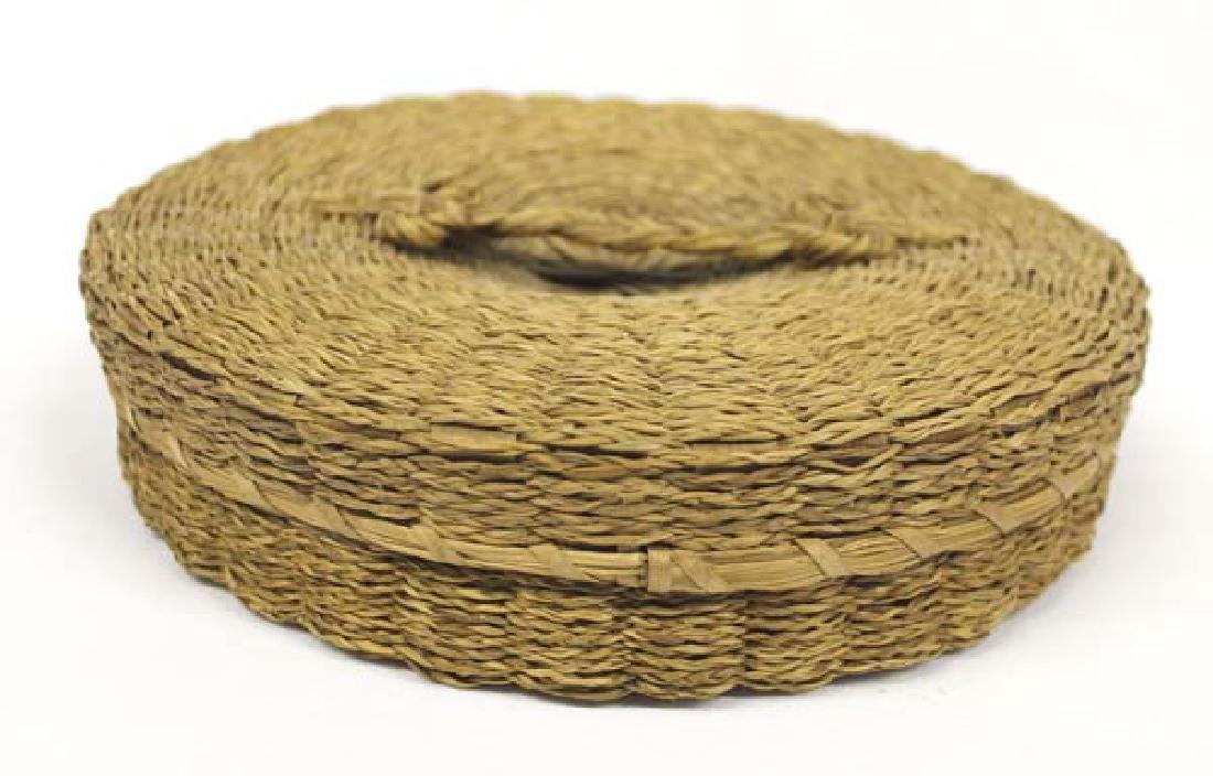 Vintage Penobscot Sweet Grass Sewing Basket