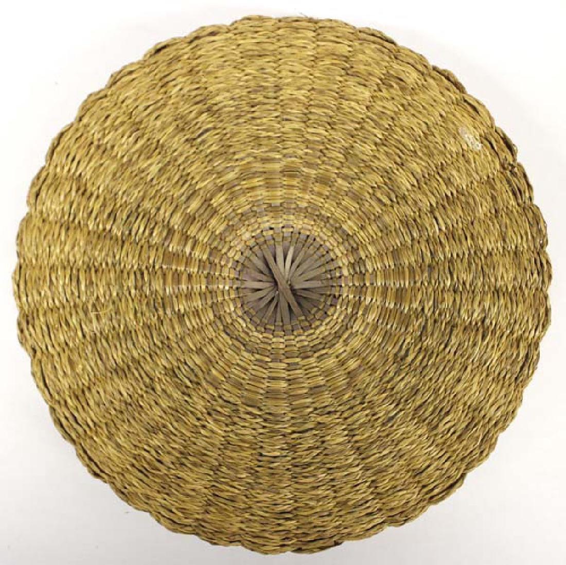 Vintage Penobscot Sweet Grass Sewing Basket - 5