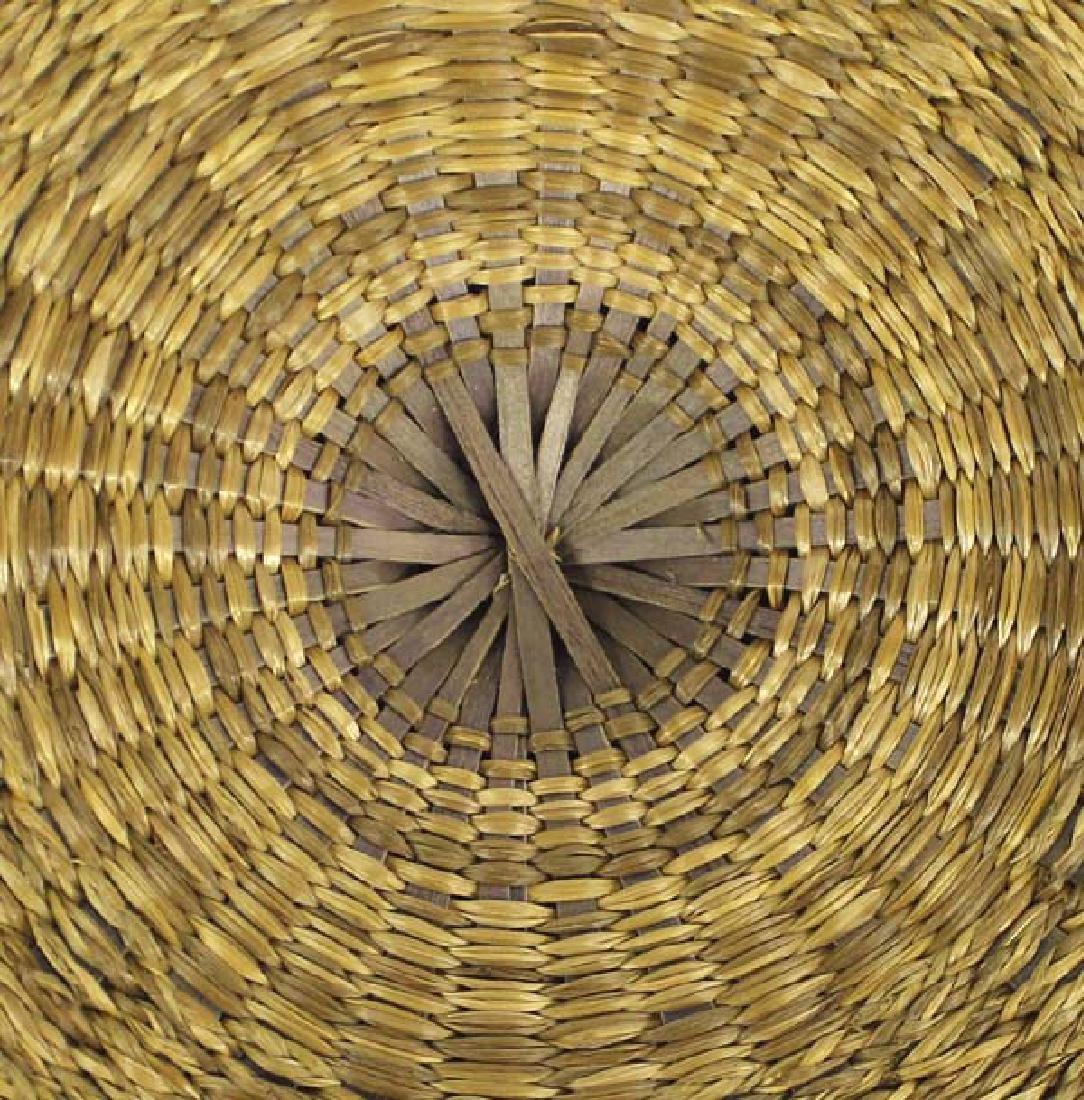 Vintage Penobscot Sweet Grass Sewing Basket - 6