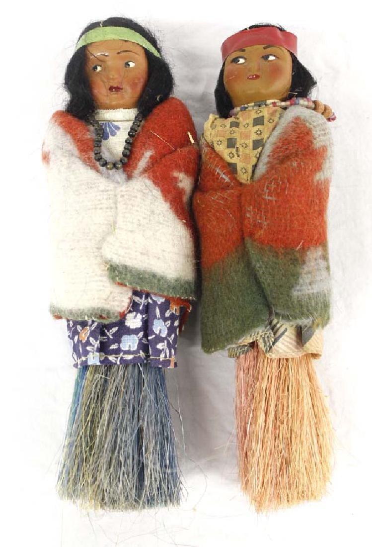 2 Rare Broom Skookum Dolls