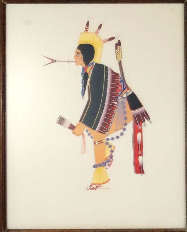 Original Native American Painting by A. Bushyhead - 2