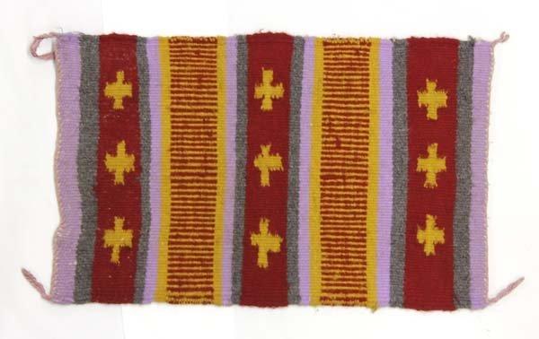 Native American Navajo Woven Wool Textile Rug