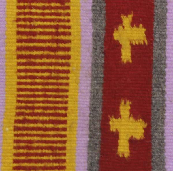 Native American Navajo Woven Wool Textile Rug - 2