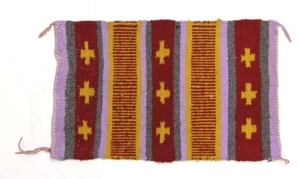 Native American Navajo Woven Wool Textile Rug - 3