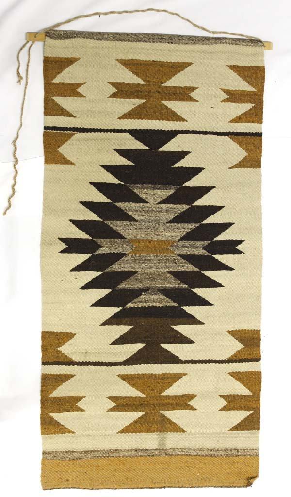 Native American Navajo Woven Wool Rug Wall Hanging