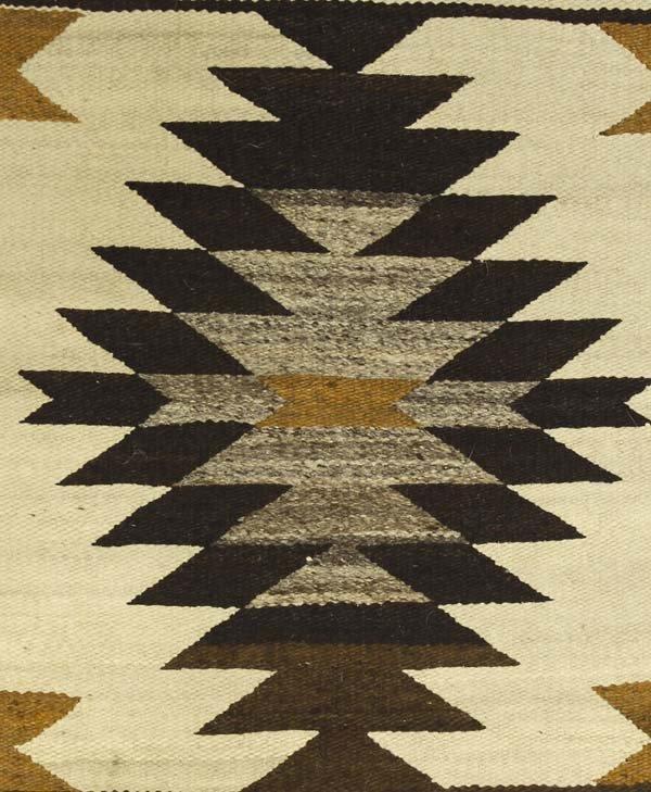 Native American Navajo Woven Wool Rug Wall Hanging - 2