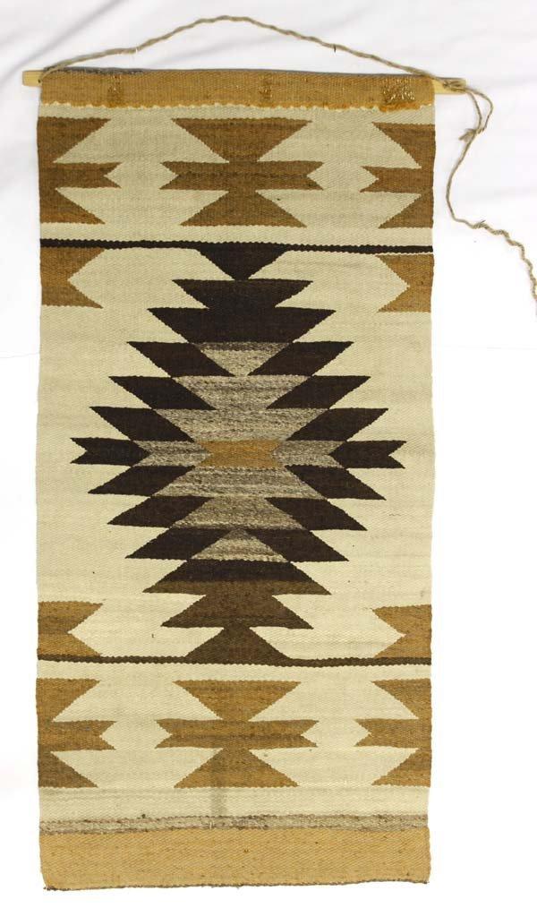 Native American Navajo Woven Wool Rug Wall Hanging - 3