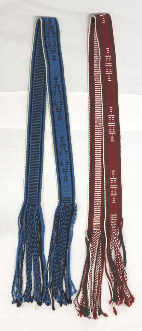 2 Native American Navajo Woven Wool Sahes