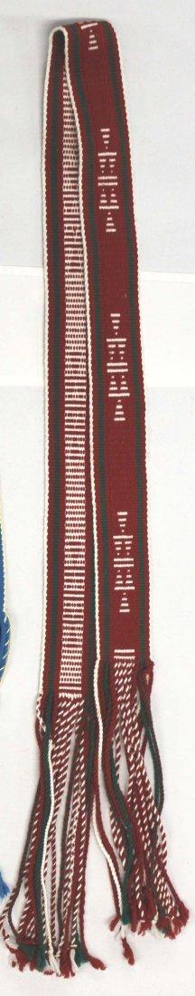 2 Native American Navajo Woven Wool Sahes - 4