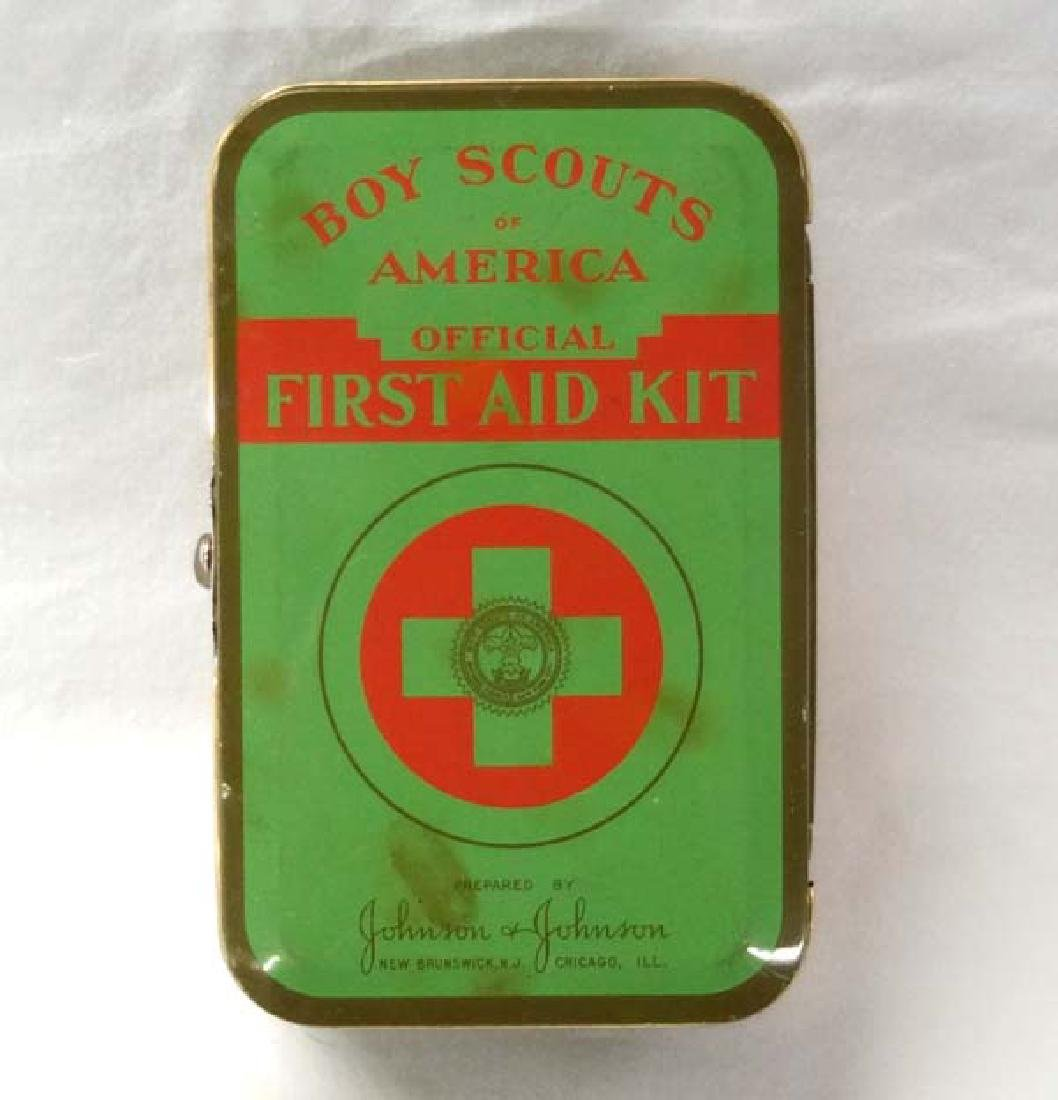 Vintage Boy Scout First Aid Kit, 6 in. L , S&H $10