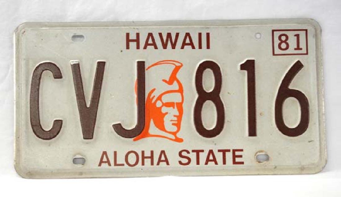 1981 Hawaii License Plate, 12 in. L, S&H $10