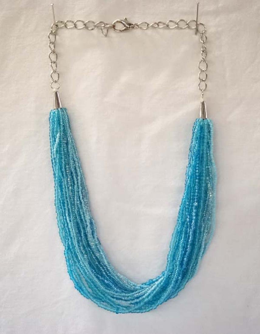 Glass Bead Necklace 20in L Sh $10