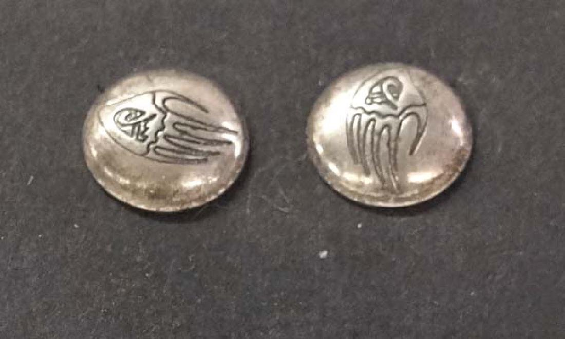 Native American SS Earrings 1/2in D SH $10