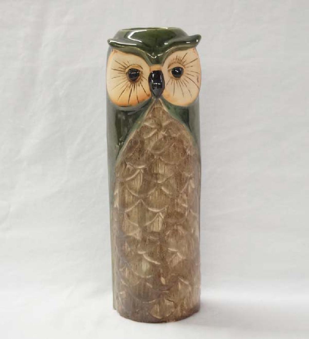 Owl Vase 11in H SH $15