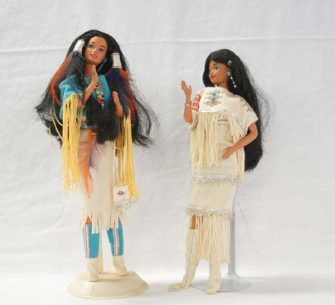 2 Native American Dolls 12in SH $15