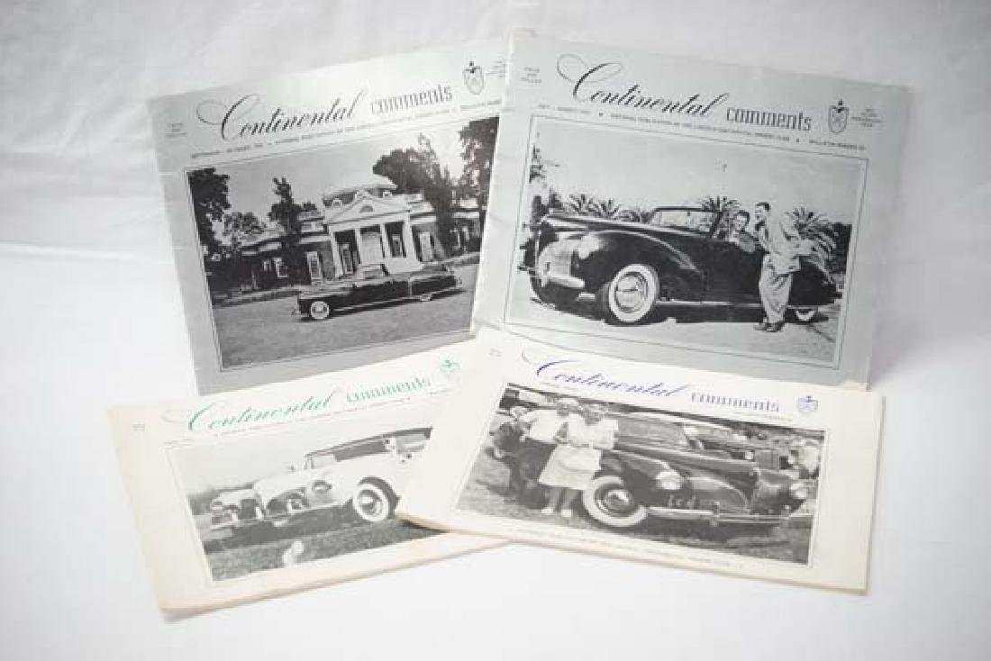 4 Vintage Books on Lincoln Continental Cars, $10
