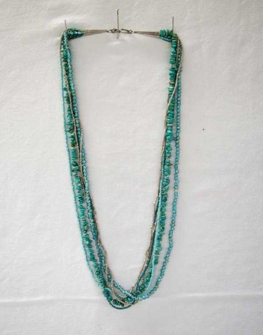 Turquoise Necklace 26in L SH $10