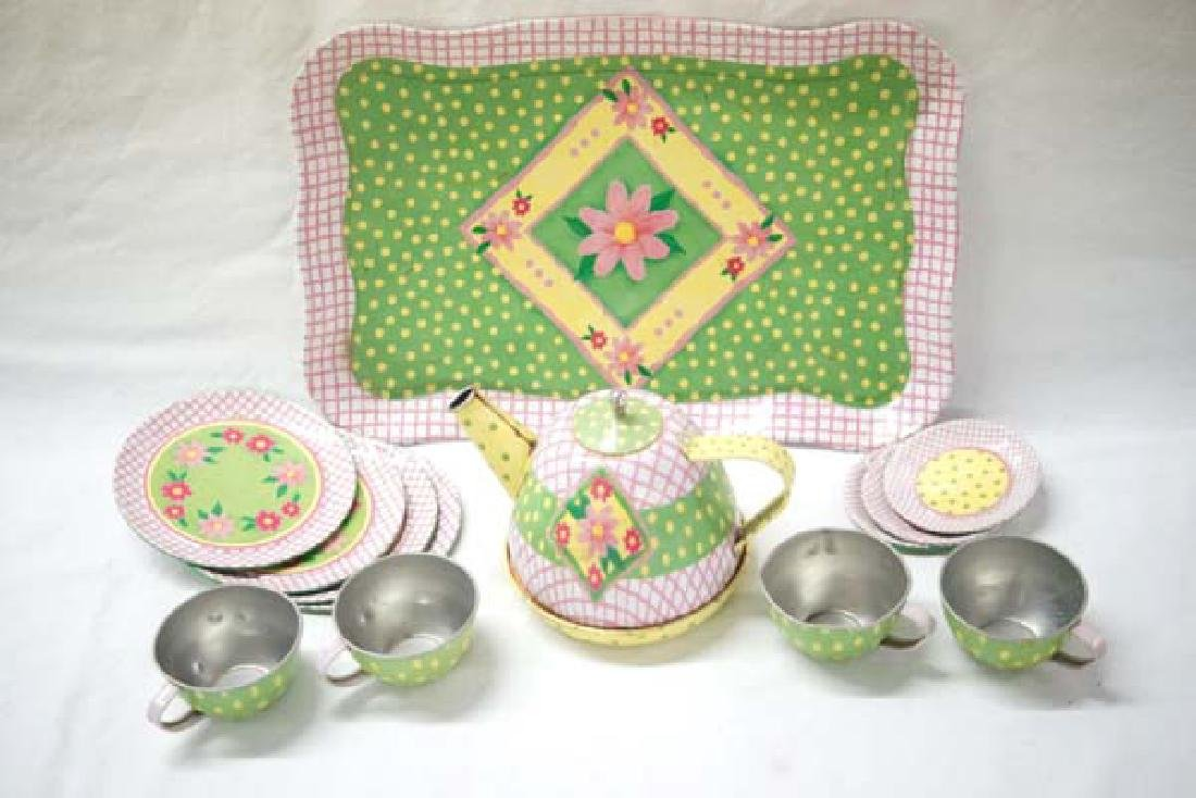 Tin Childs Dishes 10in L SH $10