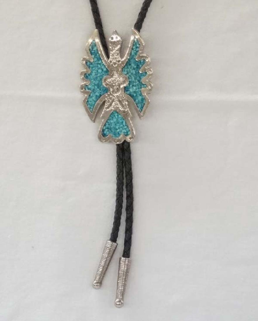 Payote Bird Chip Inlay Bolo 3in L SH $10