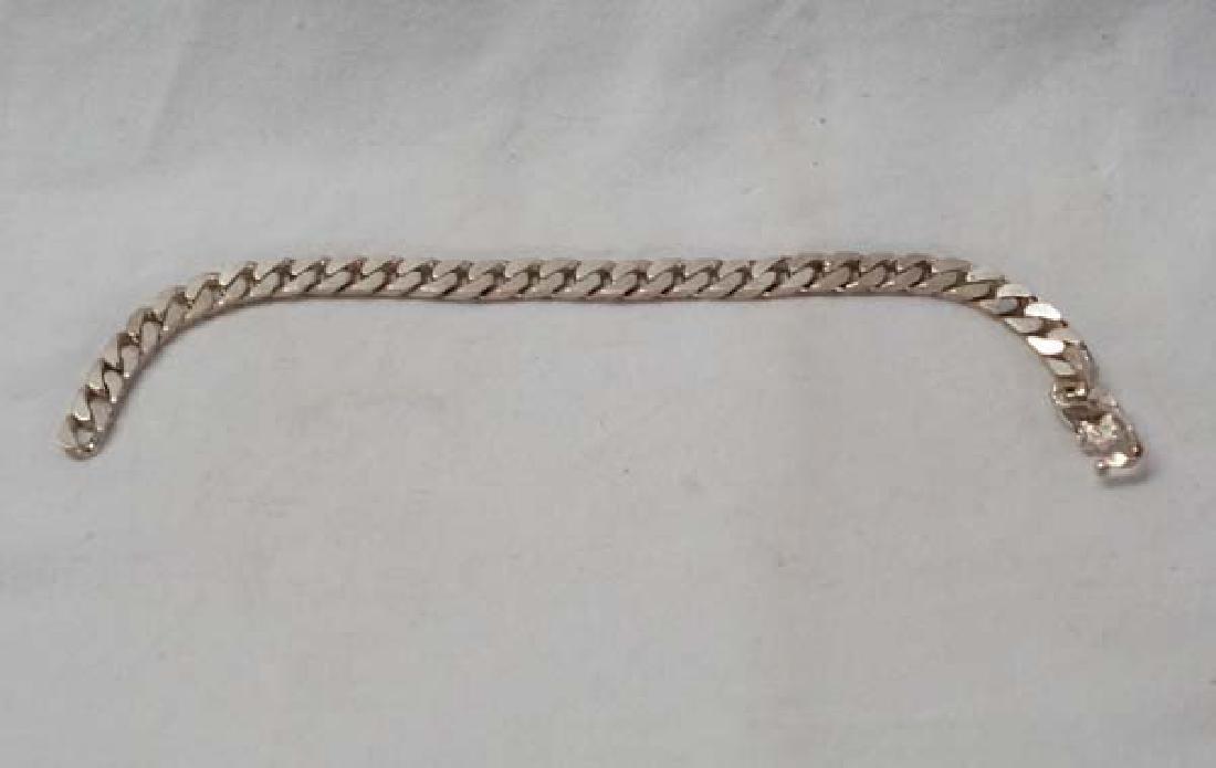 Sterling Link Bracelet 8in SH10