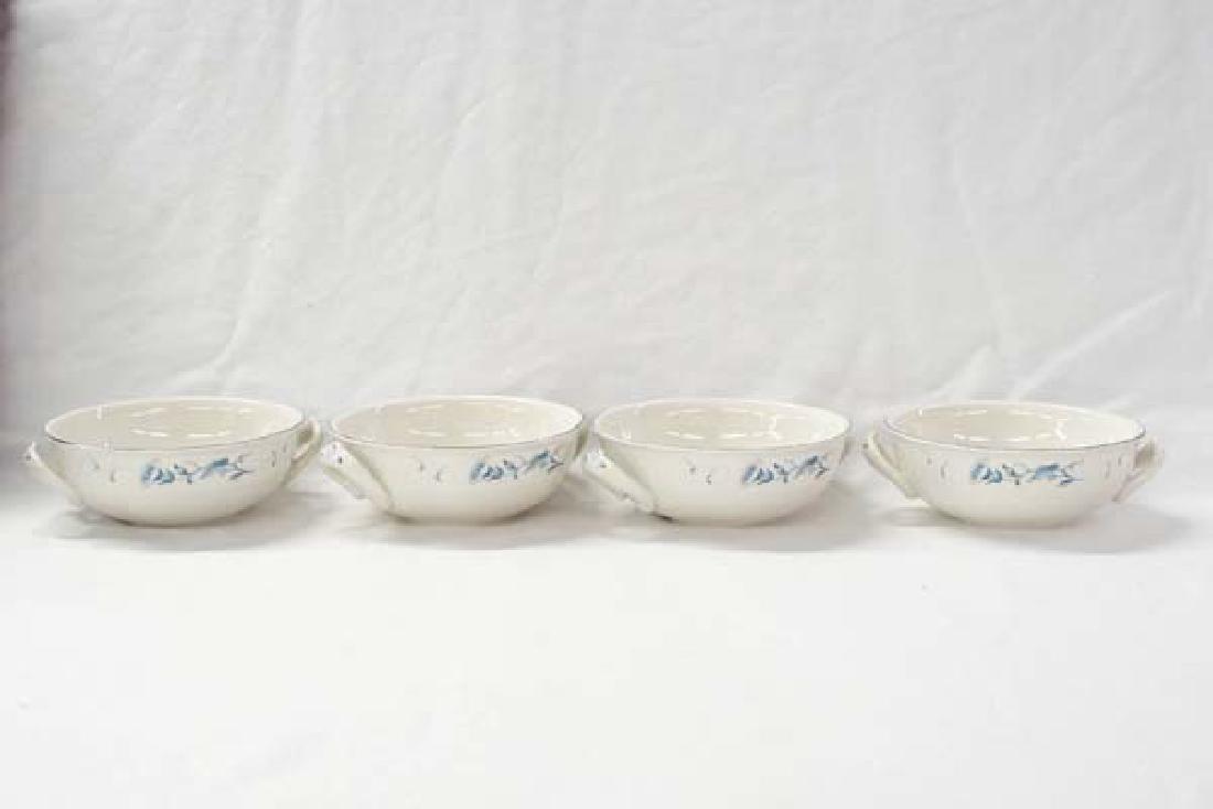 4 Antique German Bowls 5in D SH $15
