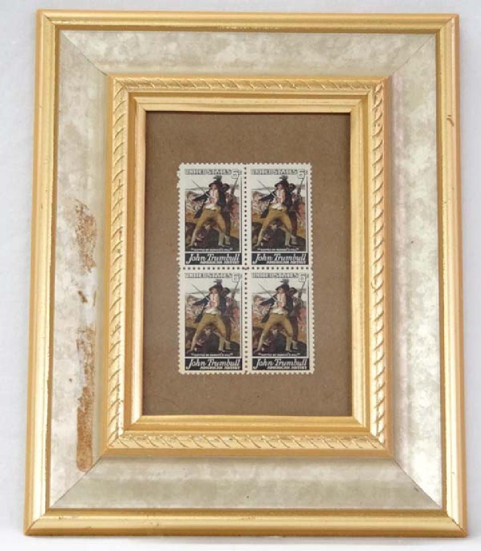 Framed John Trumbull Stamps, S&H $15