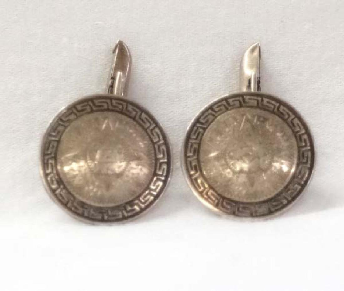 Mexican Sterling Silver Cuff Links 3/4in SH $10