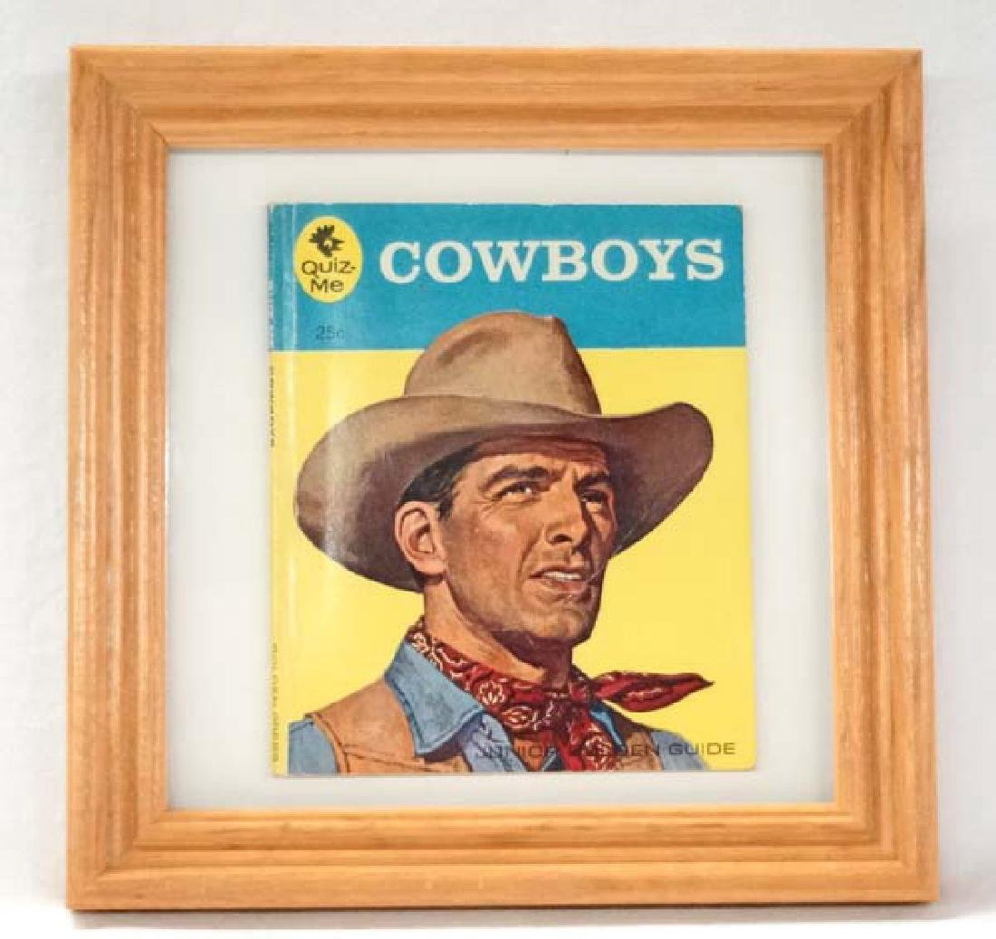 Framed Cowboy Book, 5 in. x 4 in., S&H $10