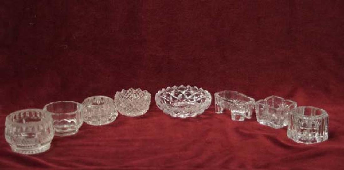 Collection Crystal Salt Cellars 3in SH $15
