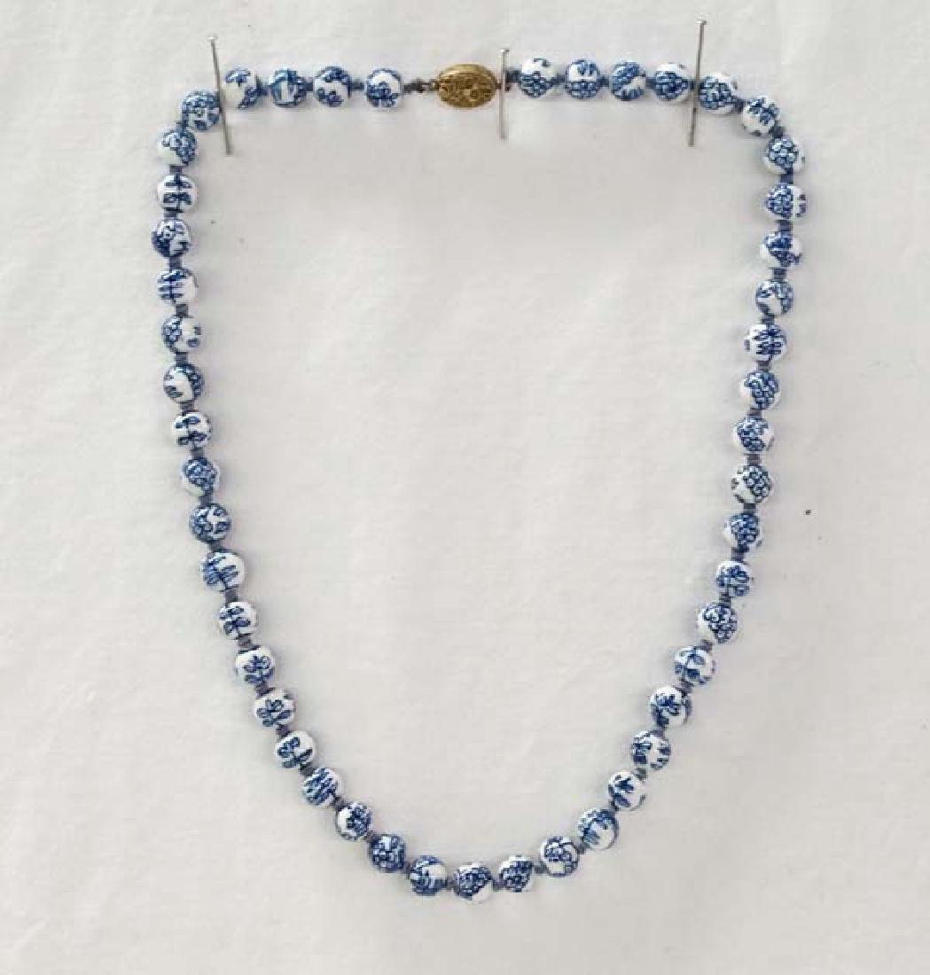 Cobalt Blue Beads 22in SH10