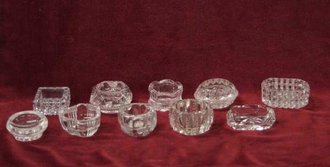 Collection Crystal Salt Cellars 2 1/2in SH $15