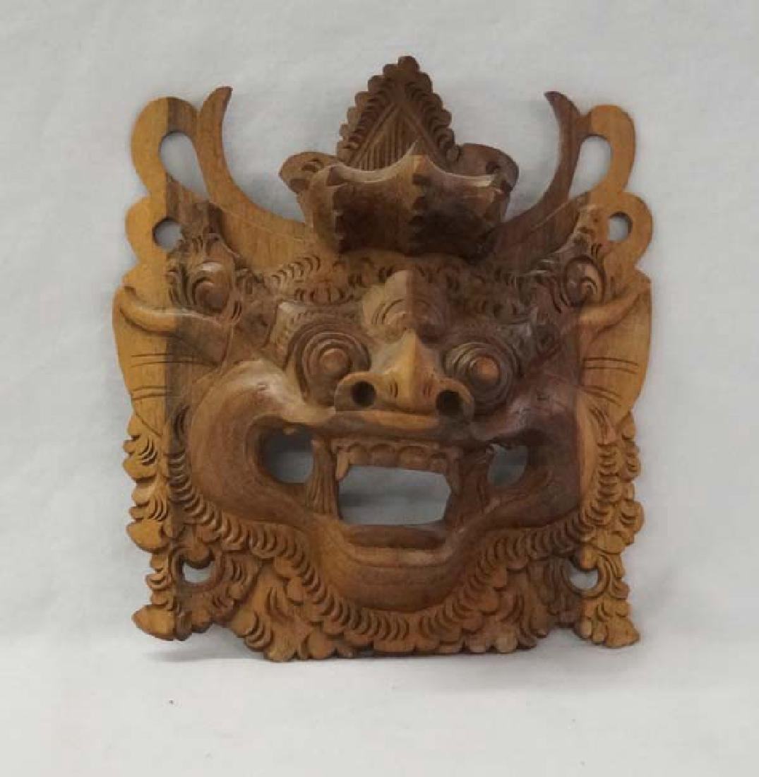 Asian Wood Mask 5in SH10