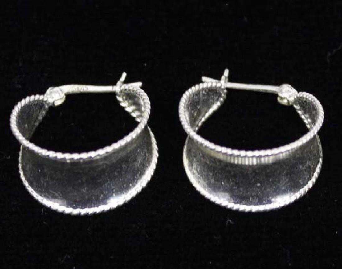 3 Pair Sterling Silver Fashion Earrings - 3