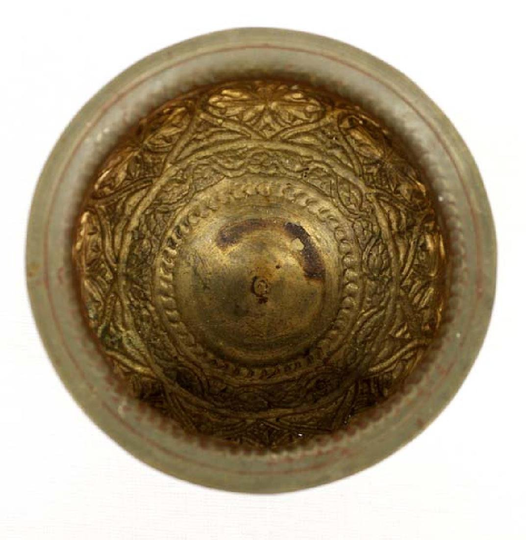 Egyptian Metal Pedestal Bowl - 3