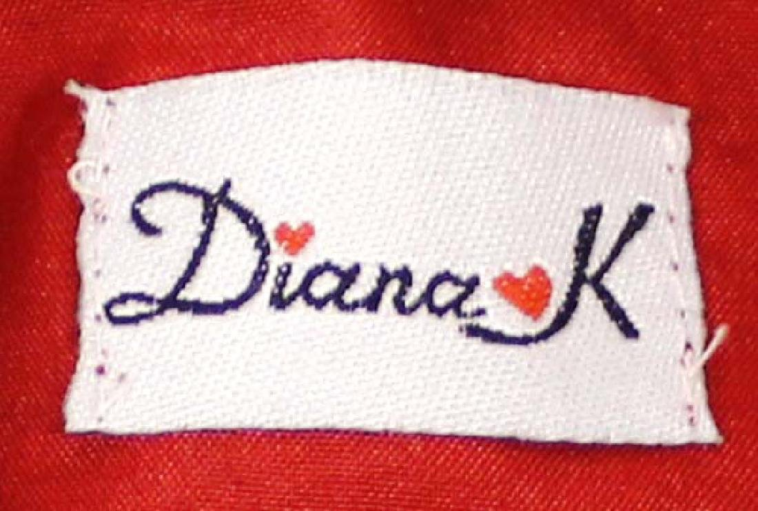 Vintage Diana K Red Beaded Flapper Purse - 3