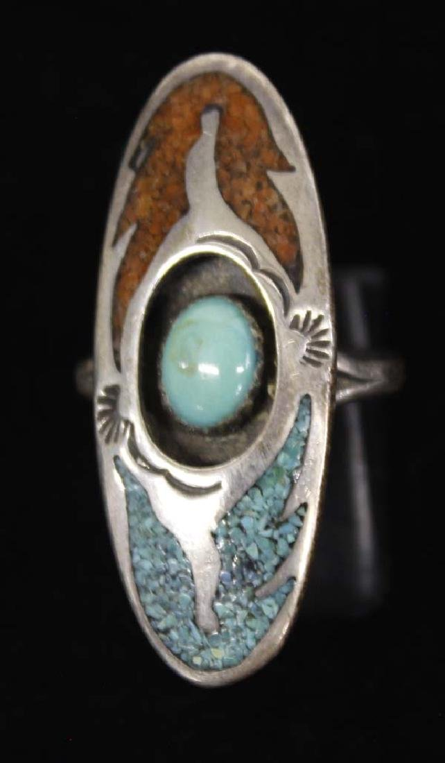 Native American 1970's Sterling Ring