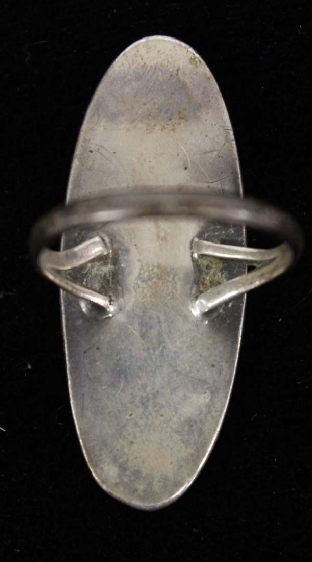 Native American 1970's Sterling Ring - 2