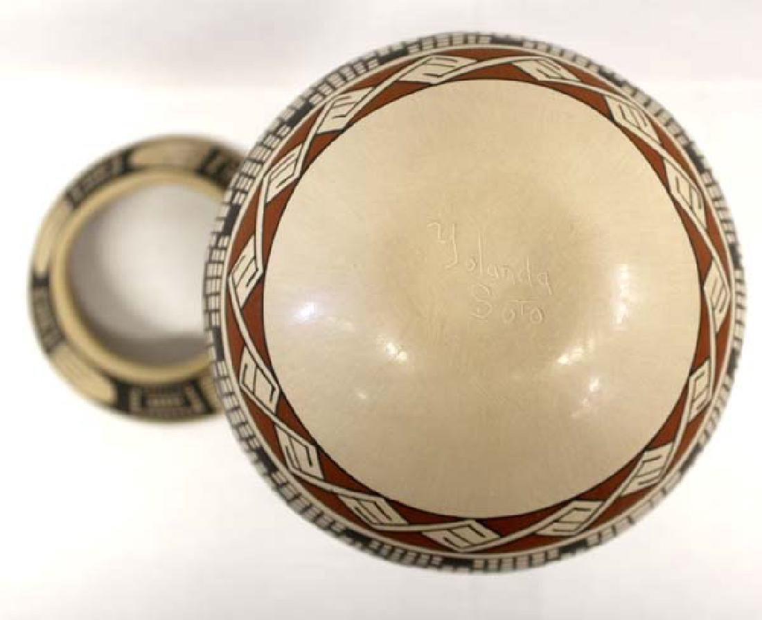 Mexican Mata Ortiz Jar by Paty Ortiz. - 3