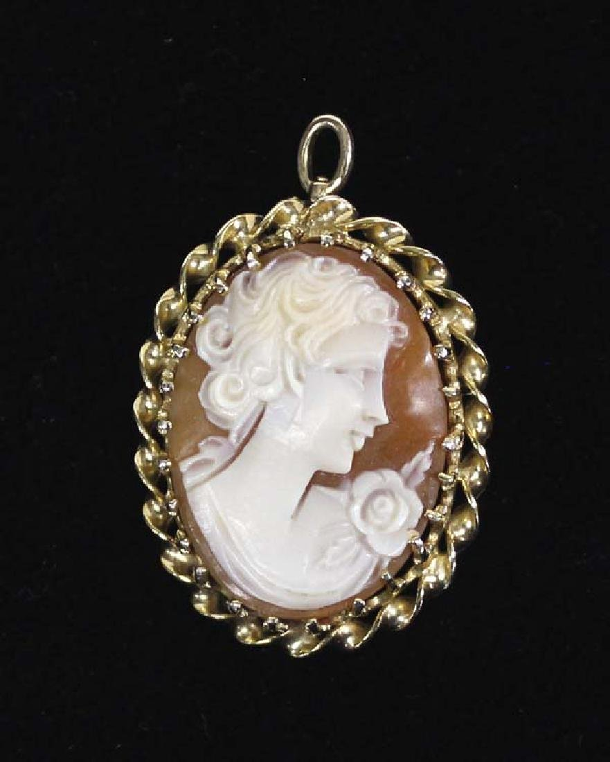 Estate Shell Cameo Pin/Pendant
