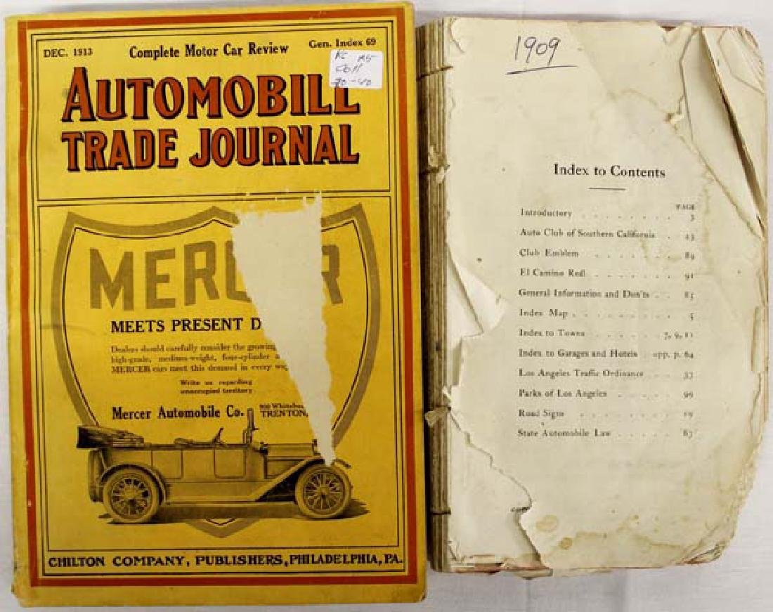 Pair of Antique Car Books