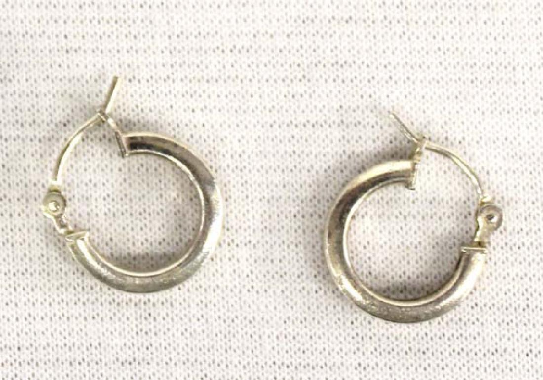 3 Pairs Sterling Silver Earrings - 2