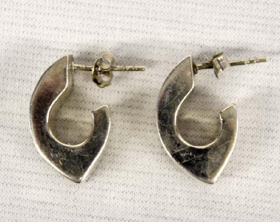 3 Pairs Sterling Silver Earrings - 3