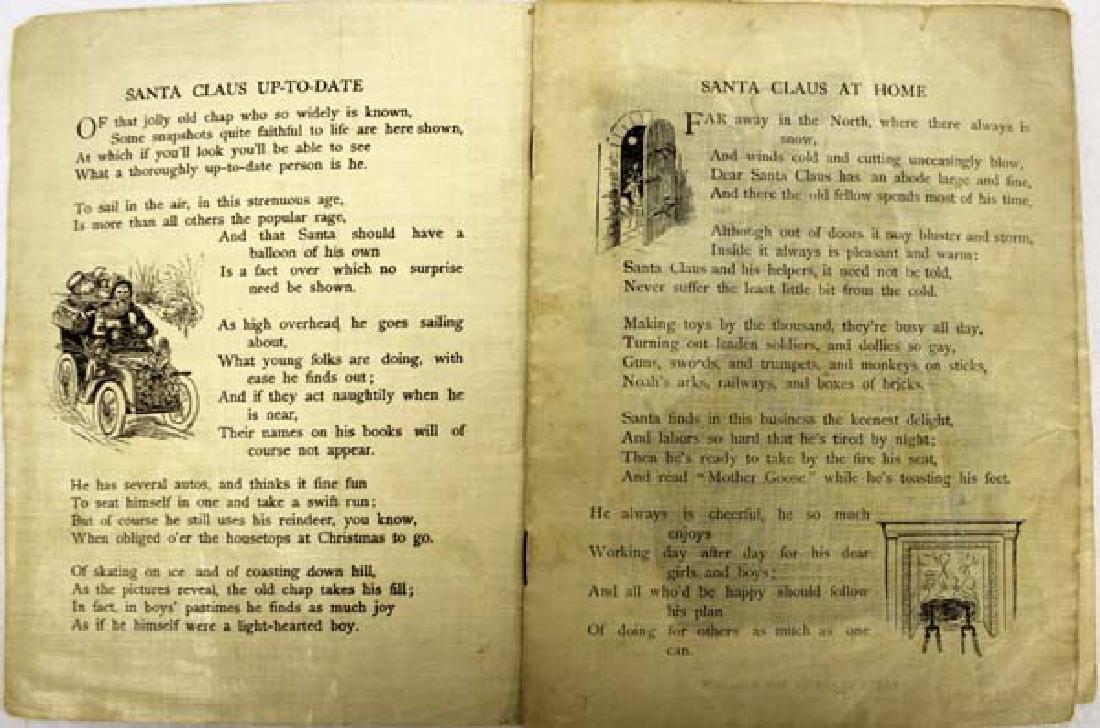 Antique Linen Book Snapshots at Santa Claus - 3