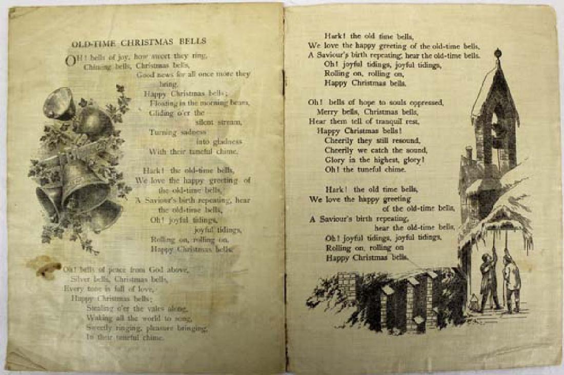 Antique Linen Book Snapshots at Santa Claus - 4