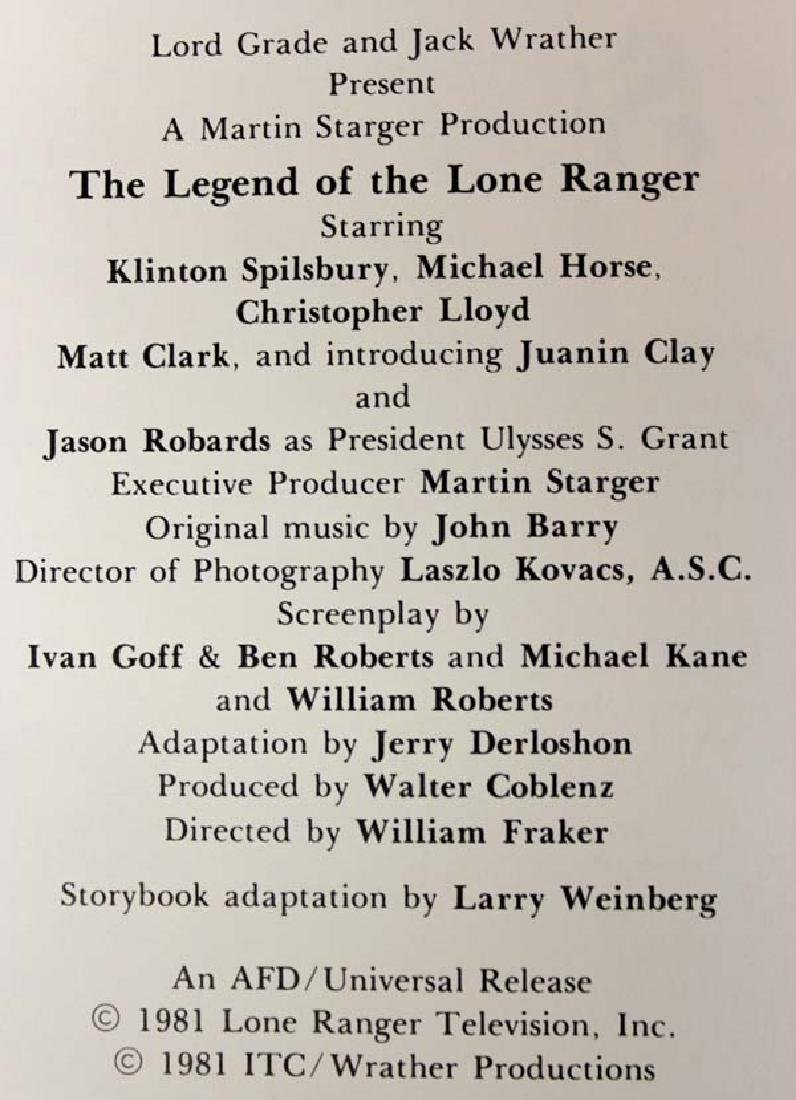 1981 The Legend of the Lone Ranger Storybook - 3