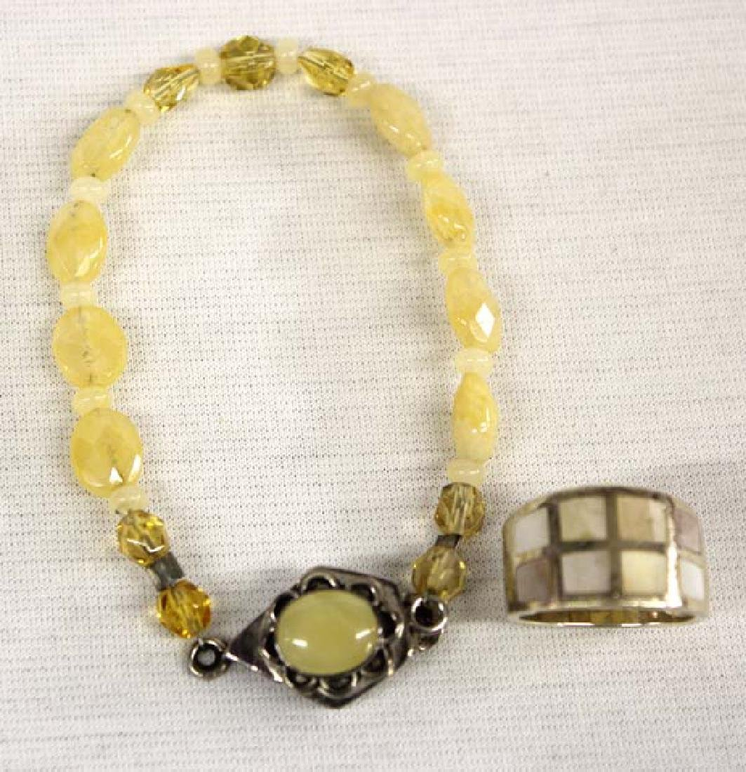 Citrine Sterling Silver Bracelet & Ring