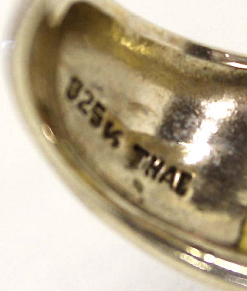 Citrine Sterling Silver Bracelet & Ring - 5